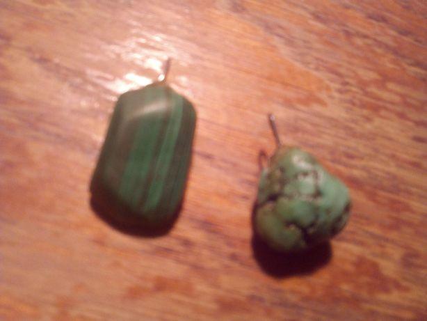 2 pietre semipretioase pandantive verzi (malachit cred)