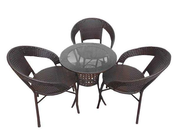 Set 3 scaune si masa din ratan interior/exterior terasa/gradina modern