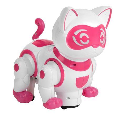 Jucarie pisica robot NewPet DanceCat, functie bump & go, sunete