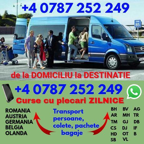 Plecari ZILNICE transport persoane Romania Austria Germania Arad curse
