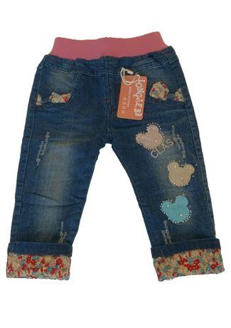 Нови детски дънки с ластик за момиче