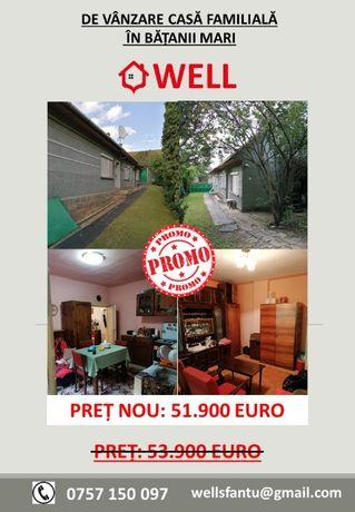 De vânzare casă familială în Bățanii Mari