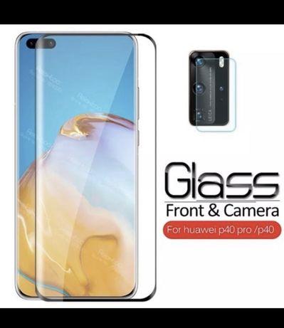 Стъклен протектор за Huawei P40/ P40 Pro Plus за дисплей и камера