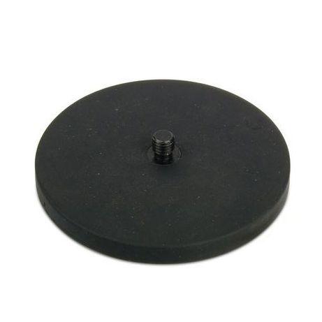 Magnet neodim puternic oala cauciucat D 88 mm filet exterior 55 kg