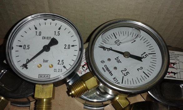 Манометри и манометрични кранове високо налягане газ, пара