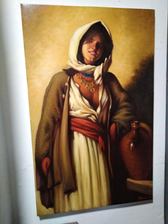 """Tablou ""Tiganca de la Ghergani"" - ulei pe panza 54x85 cm"