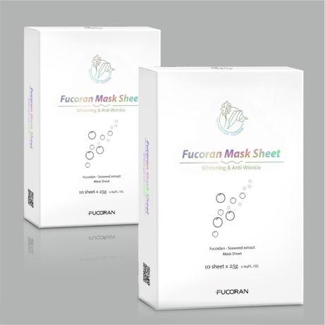 Косметическая тканевая маска для лица с фукоиданом Fucoran