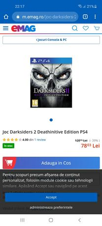 Vand jocuri ps4 Bloodborne si Darksiders 2
