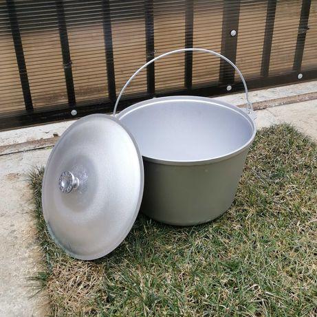 Ceaun aluminiu import Ucraina 3 L cu capac