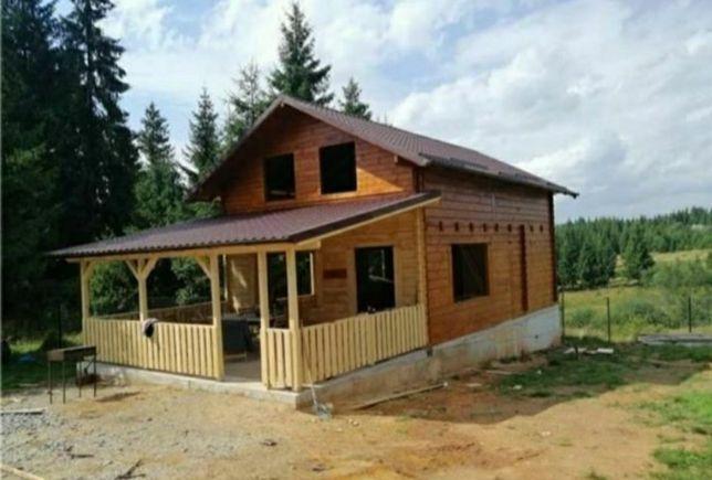 Vând container stil casă pe structură metalică