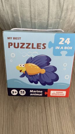 Puzzle lemn copii din 2 piese My best puzzles 24 in a box