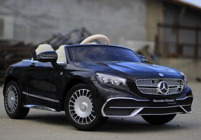 Masinuta electrică pentru copii Mercedes S650 Maybach NOUA #Black