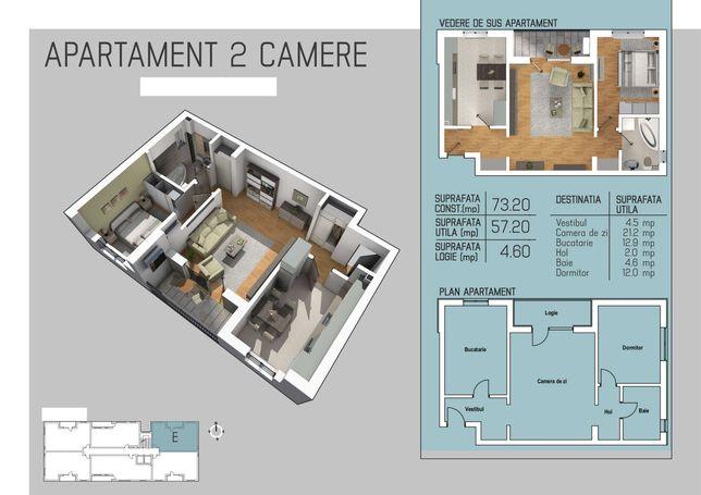Apartament 2 camere zona 300
