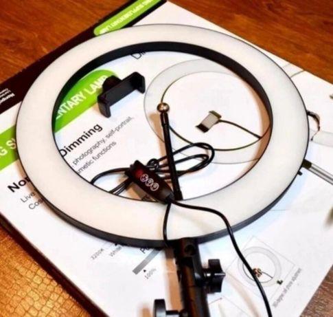 Кольцевая лампа 36 см + Штатив 2м, Яркая Супер Качество. Гарантия