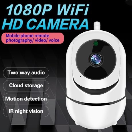 Wifi Смарт камера /бебефон/ за вкъщи, FULL HD, 2MP 1080P, Auto Trackin