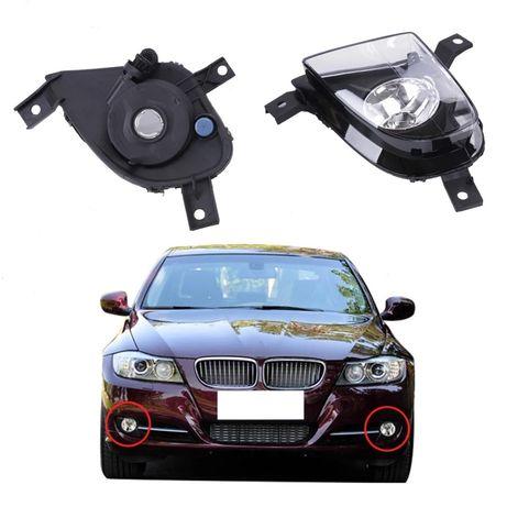 Халогени BMW E90 E91 Facelift Лед фар LED бмв е90 е91 броня халоген