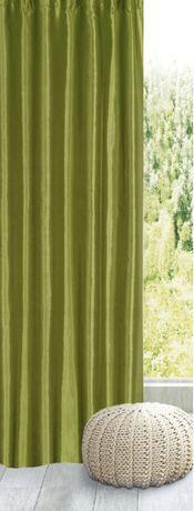 Штора зеленая с бархотным рисунком