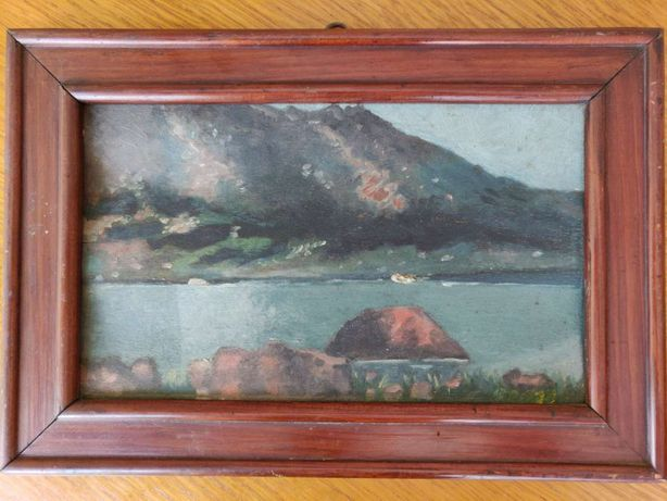 Tablou , pictura in ulei pe lemn - Gustav & Wilhelm Heller