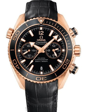 Omega Seamaster Planet Ocean Leather Gold