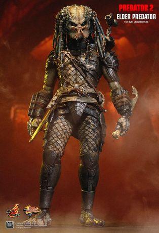 Figurina Articulata Hot Toys 1/6 Predator 2 Elder V2 MMS233