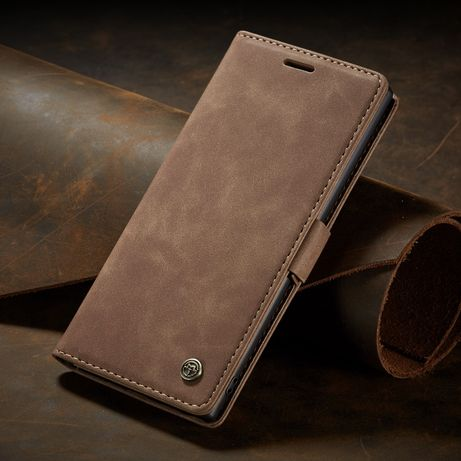 Husa Samsung Note 10 Plus piele, textura catifelata, portofel, CaseMe