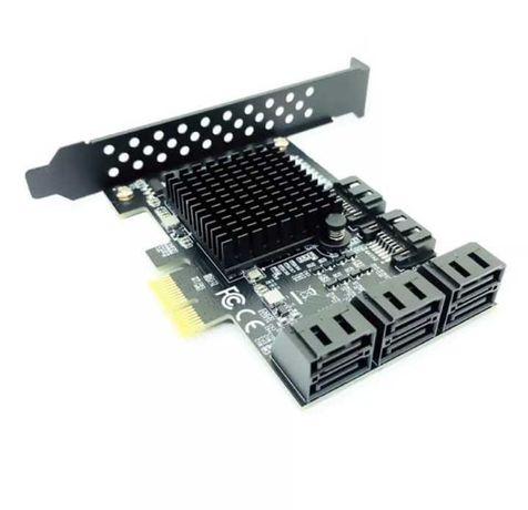 Sata pci-e adaptor 8 porturi pci expres x4 la sata 3.0, minat Chia