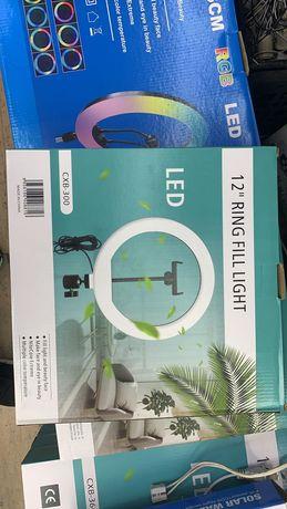 Кольцевая лампа селфи светодиодная