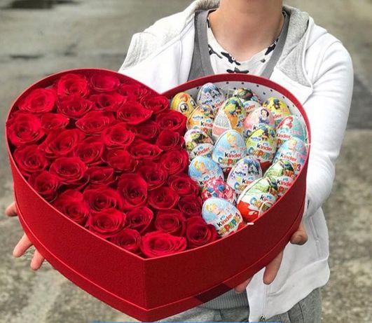 цветы Аксу доставка розы фруктовые корзины торты подарки 101 роза