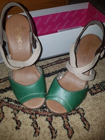 Vand sandale piele dama RIEKER- NOI!