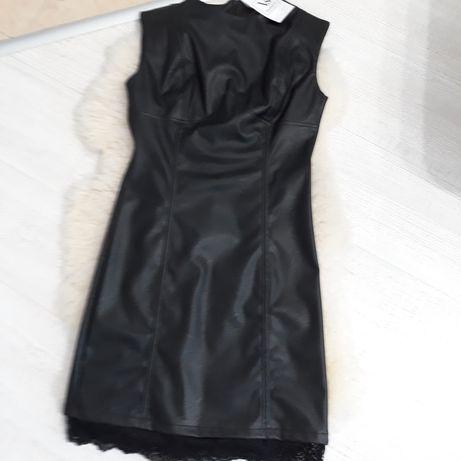 Нова кожена рокля