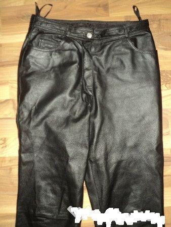 pantaloni piele clasici JCC pentru strada,rock, moto ,masura 42