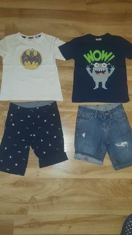 Къси панталони и тениски за дете на 5-6 години.