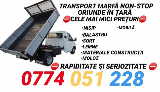Transport marfă/balastru/nisip/moloz/mobila/lemne/materiale/etc