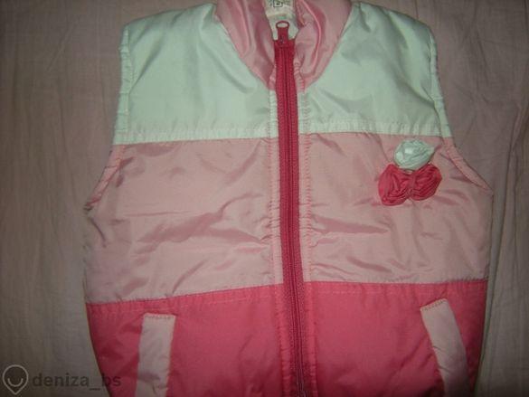 ДРЕХИ ЗА 2-3 Г. - елеци /розов и лилав/,блузка и рокли памучно плетиво