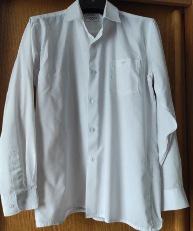 Продам белую рубашку с длинным рукавом, LANVIN, на мальчика 13-14 лет