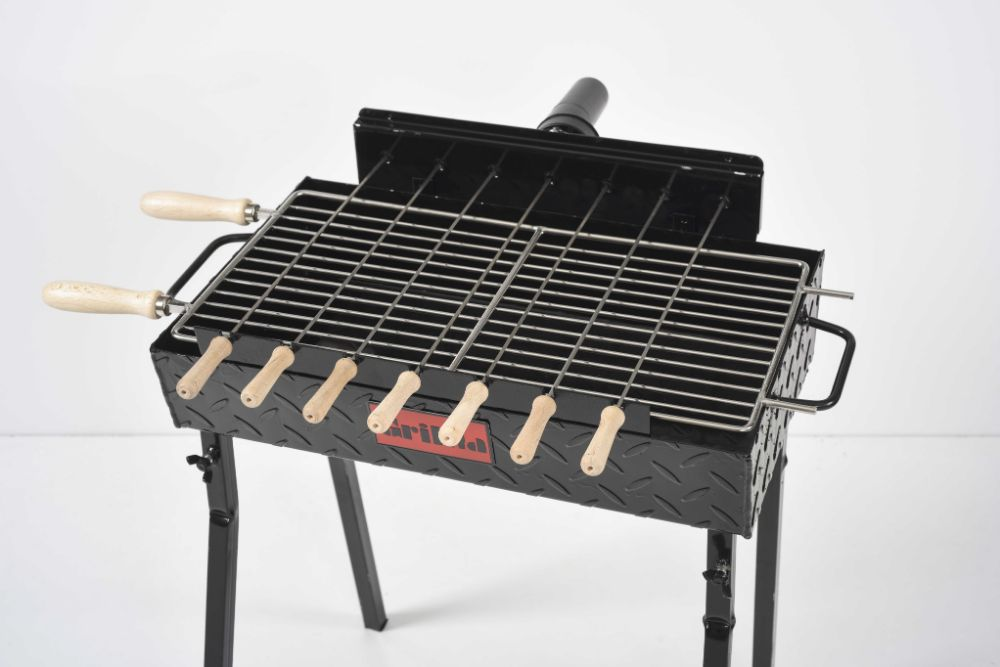 Gratar carbune, cu 7 frigarui, rotiserie automata,si grill traditional Ploiesti - imagine 1