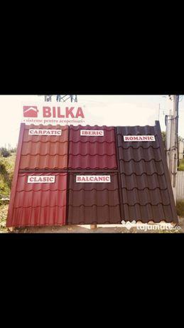 Tigla metalică(tabla tip tigla), tabla cutata si sistem pluvial Bilka