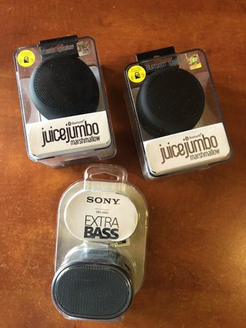 Boxe Bluetooth Juice Jumbo & Sony.