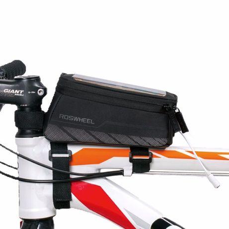 Geanta Roswheel impermeabila cadru bicicleta smartphone cu depozitare