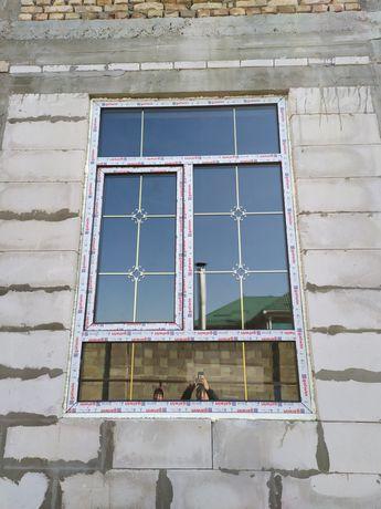 Пластиковые окна двери витражи любой сложности на заказ Алматы