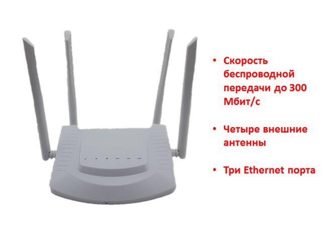 4G WIFI LAN роутер с поддержкой 4G сим карт и тремя Ethernet портами