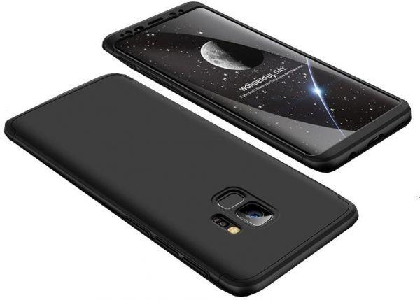 Husa Samsung Galaxy S9Plus,FullBody Elegance Luxury Negru+folie gratis