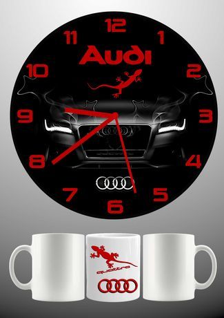 Стенен часовник + чаша-по наш или Ваш дизайн-перфектният подарък