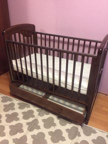 Детская кровать манеж с ортопед матрасем