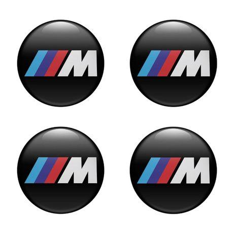 Силиконови стикери за капачки на джанти M power размери 40мм до 90м