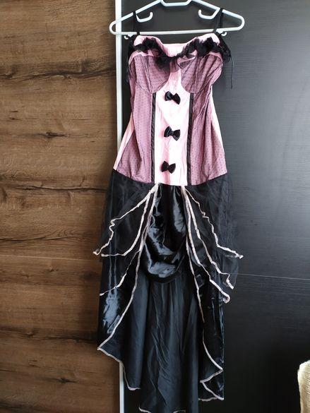 Готик бурлеска бална розова рокля