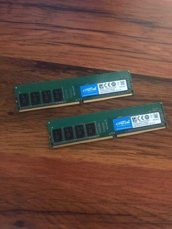 Две плашки ОЗУ по 4GB Crucial DDR4 2133MHz