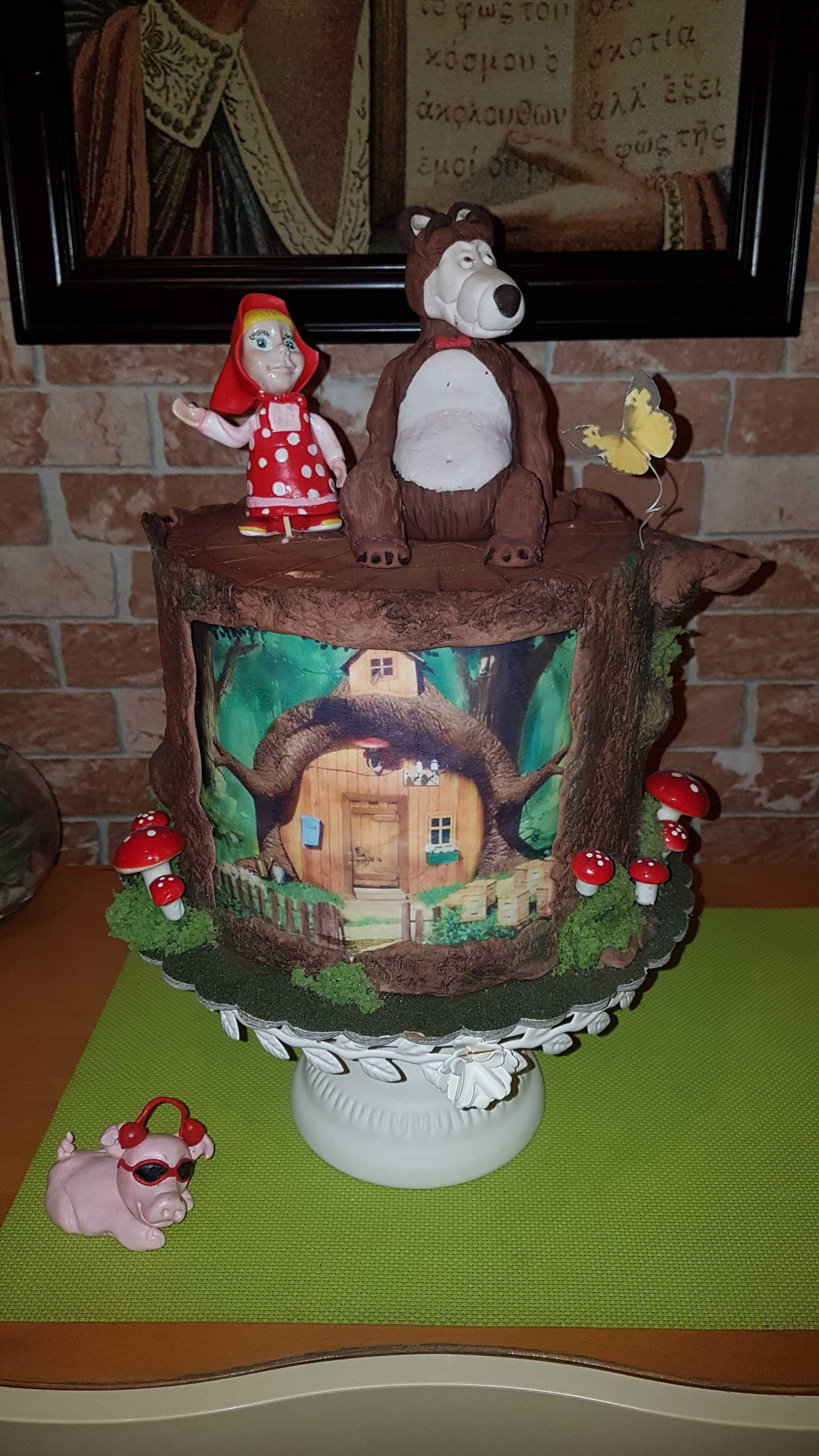 Пинята super mario ,папагал и балон маша ,пират  торта Маша и мечока
