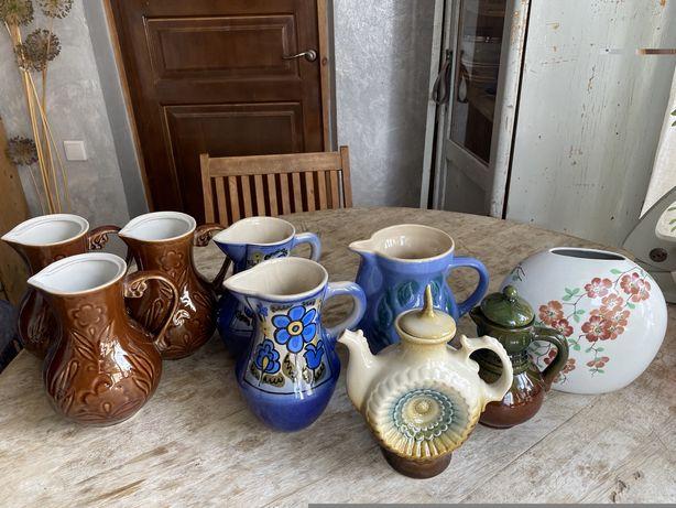 Кувшины керамика, чайник, ваза