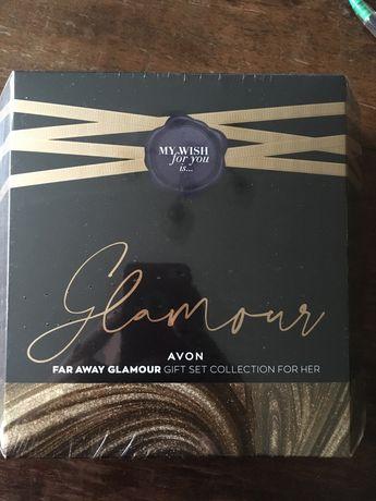 set apa de parfum si lotiune de corp Far Away Glamour Avon